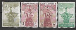 SPAIN 1930 Sc#419,421,423  Chr.Colombus, SHIPS Incomplete Set MH, #419 MNH - 1889-1931 Kingdom: Alphonse XIII