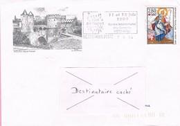 57 - Flamme De METZ Sur Enveloppe Illustrée De Metz, Timbre Surtaxe Croix Rouge 1993 - 1961-....