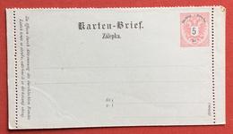 AUSTRIA KARTEN - BRIEF ZALEPKA  BIGLIETTO POSTALE  NUOVO 5 Kr - Repubblica Ceca