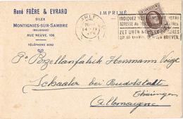 23228. Tarjeta Privada MONTIGNIES Sur SAMBRE (Belgique) 1926. Silex. Privat Post Card - Bélgica