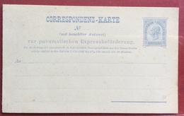 AUSTRIA CORRESPONDENZ - KARTE INTERO POSTALE  NUOVO 10  Kr PNEUMATISCHEN EXPRESS  PER POSTA PNEUMATICA  CON RISPOSTA PAG - 1850-1918 Impero