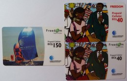 CARIBBEAN GENERAL - GSM - Freedom Prepaid - 3 Cards - Used
