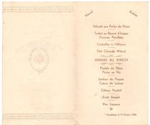 Menu - Huwelijk Mariage Marcel X Andrée - Erquelinnes 1936 - Menus