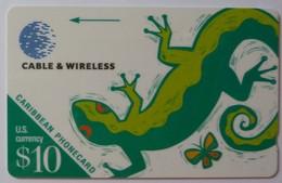 CARIBBEAN GENERAL - Cable & Wireless - $10 - Lizard - Mint - Rare Control - Antillen (Overige)