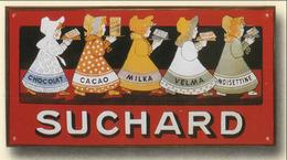 TARGA PUBBLICITARIA - CIOCCOLATO SUCHARD (cm. 16,00 X Cm. 29,00) - Anni ´50 - Cacao