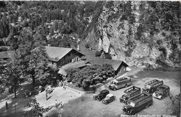 MEIRINGEN → Restaurant Aareschlucht Mit Saurer Postautos Und Oldtimer Anno 1960 - BE Bern