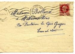 Belle Lettre 1943 De Chartres (28) à Fontaine La Guyon (28) - Francia