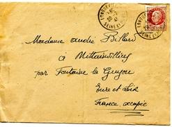 Lettre 1943 Longueville  Fontaine La Guyon (28) - Francia