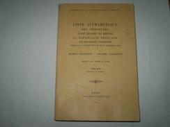 Gros Livre:liste Alphabétique Des Personnes Ayant Décliné Ou Répudié La Nationalité Française Entre 1893 Et 1955 - Cultura