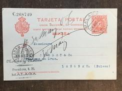B17 Spanien Spain Espagne Ganzsache Stationery Entier Postal P 42 Von Malaga Nach Langnau