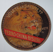 TARGA PUBBLICITARIA - FERRO-CHINA BISLERI - MILANO (Diametro Cm. 25,00) - Anni ´30 - Liquor & Beer