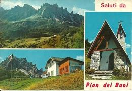 Lozzo Di Cadore (Belluno, Veneto) Rifugio Pian Dei Buoi , Panorama E Chiesetta - Belluno