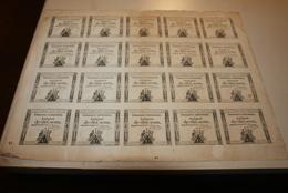 Planche De 20 Assignats De 10 Sous - 1789-1795 Monnaies Constitutionnelles