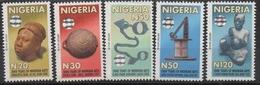 Nigeria 2010 Hologramm Holorgrammes Definitives 2000 Years Of Nigerian Arts Sculpture Kunst 5 Val.