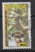 Nigeria 2010 Hologramm Holorgrammes Definitive Monkey Singe Ape Affe Fauna Faune MNH**