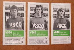 3 Stickers Cercle Brugge Ysco De Quant - Albert - Gardin - Football