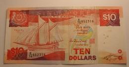 1988 ND - Singapour - Singapore - 10 DOLLARS, E/76 652316 - 652317 - Singapour