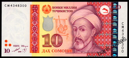TADJIKISTAN 10 SOMONI 1999(2013) Pick 24 Unc - Tadschikistan