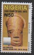 Nigeria 2010 Hologramm Holorgrammes Definitive 2000 Years Of Nigeria Arts MNH**