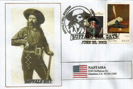 """""""Buffalo Bill"""" Cody,Civilian Scout For The US Army (Indian Wars),special Letter From Sheridan County,addressed To Calif"""