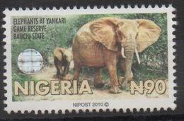 Nigeria 2010 Hologramm Holorgrammes Definitive Elephants Elefanten Faune Fauna MNH**