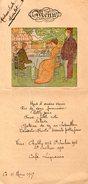VP9024 - Ancien MENU Illustré De 1917 - Menus