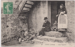 CPA - Types Corses - Scène Paysanne - Corbara - France