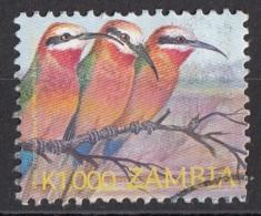 1027 Zambia 2003 Uccelli Birds : Gruccione Viaggiato Used - Passeri
