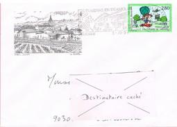 69 - Flamme De JULIENAS Sur Enveloppe Illustrée De Julienas, Timbre Philexjeunes - Marcophilie (Lettres)