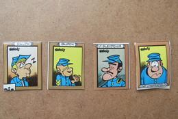 4 Autocollants Stickers Valois Blauwbloezen Les Tuniques Bleues - Books, Magazines, Comics