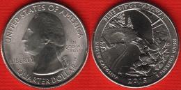 """USA Quarter (1/4 Dollar) 2015 P Mint """"Blue Ridge Parkway"""" UNC - 2010-...: National Parks"""