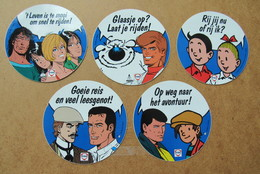 5 Autocollants Stickers Suske En Wiske Vaillant Thorgal - Books, Magazines, Comics