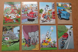 8 Cartes Spirou 1985 / Nrs: 1, 2, 23, 24, 39, 45, 55, 60 - Books, Magazines, Comics