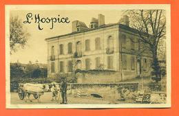 """CPA L'isle En Dodon """" L'hospice """" Attelage De Boeufs - LJCP 31 - France"""