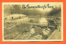 """CPA L'isle En Dodon """" La Passerelle Et Le Pont """"  LJCP 31 - France"""