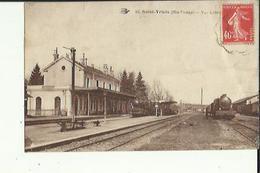 Saint-Yrieix  87    Vue Interieure De La Gare Et Des Quais Avec 2 Trains En Partance - Saint Yrieix La Perche