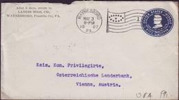 USA - COVERS 5 C U393 - LINCOLN - POSTMARK FLAG WAYNESBORO - 1907