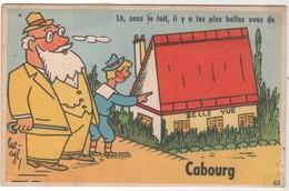 CPA 14 - Fantaisie CABOURG Multivues Sous Le Toit - Peu Courante - Cabourg