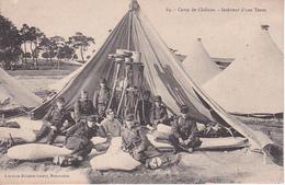 CPA Camp De Châlons - Intérieur D'une Tente - WW1 (27365) - Châlons-sur-Marne