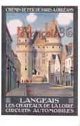 CPA Illustration : Chemin De Fer De Paris à Orléans - LANGEAIS Les Chateaux De La Loire - TTBE Constant Duval - 2 SCANS - Spoorwegen