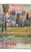 CPA Illustration : Chemin D'Orléans - Touraine LANGEAIS - Constant Duval - 2 SCANS - Spoorwegen