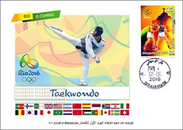 ARGELIA 2016 - FDC Olympic Games Rio 2016 Taekwondo Olympische Spiele Olímpicos Olympics JO