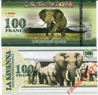 La Savanna 100 Francs 2015 UNC - Specimen