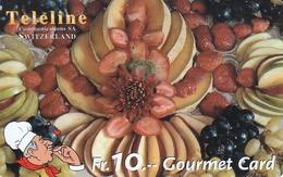 SWITZERLAND - Gourmet Card - Fruits,  Teleline Prepaid Card Fr.10, Used - Schweiz