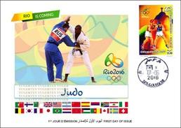 ARGELIA 2016 - FDC Olympic Games Rio 2016 Judo Olympische Spiele Olímpicos Olympics JO