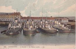 CPA Cherbourg - L'Arsenal - La Défense Mobile - 1911 (27370) - Cherbourg