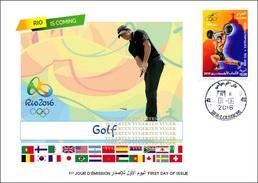 ARGELIA 2016 - FDC Olympic Games Rio 2016 Golf Olympische Spiele Olímpicos Olympics JO