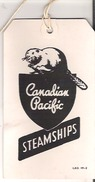 Baggage Voucher Canadian Pacific Steamships  SS Empress Of France Sailing To Liverpool - Tickets - Vouchers