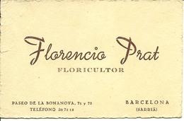 Florencia Prat Floricultor  Barcelona Carte De Visite - Tarjetas De Visita