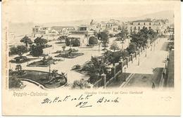 REGGIO CALABRIA - GIARDINO UMBERTO I° SUL CORSO GARIBALDI - Reggio Calabria